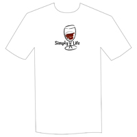 Simply Life • Red Wine  Unisex Short Sleeve Tee on white